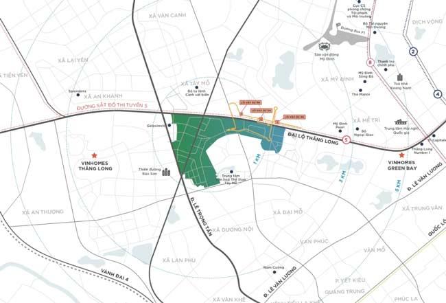 Vị trí dự án Vinhomes Smart City