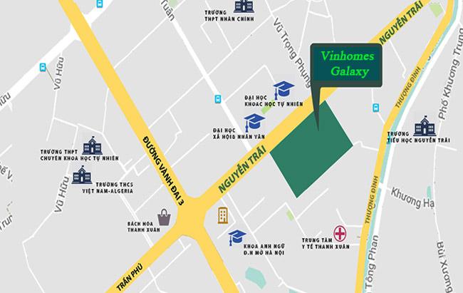 Vị trí dự án Vinhomes Galaxy Nguyễn Trãi