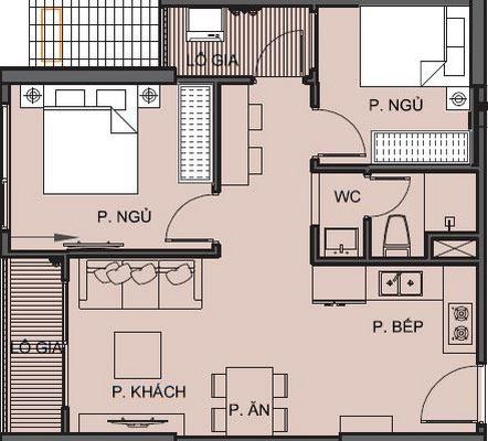 Mặt bằng chi tiết căn hộ S1.111806 - Tòa S1.11