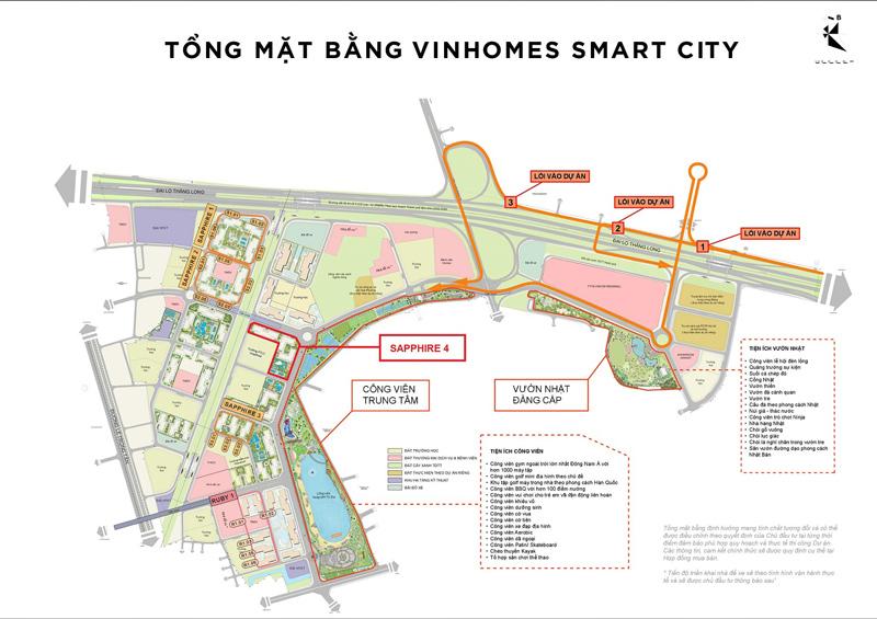 Vị trí phân khu Sapphire 4 Vinhomes Smart City