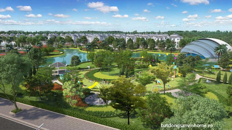 Không gian xanh rộng lớn tại Vinhomes Green Villas