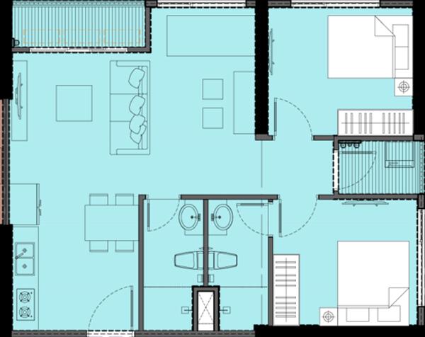 Mặt bằng chi tiết căn hộ S1.060819 tòa S1.06