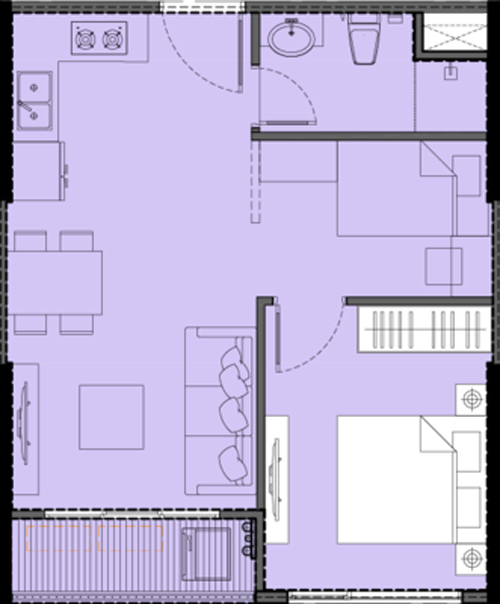 Mặt bằng chi tiết căn hộ S1.0608A12A