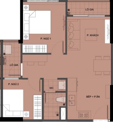 Mặt bằng chi tiết căn hộ S3.0308A18 - tòa S3.03