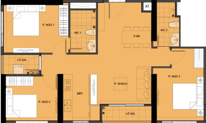 Mặt bằng chi tiết căn hộ S3.032415A - tòa S3.03