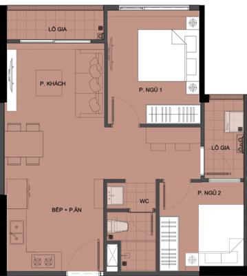 Mặt bằng chi tiết căn hộ S3.033802 - tòa S3.03