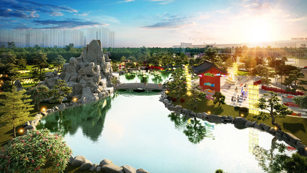 Tổng quan khu vườn Kiểu Nhật tại Vinhomes smart city