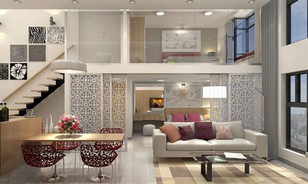 Nội thất căn hộ Duplex sang trọng