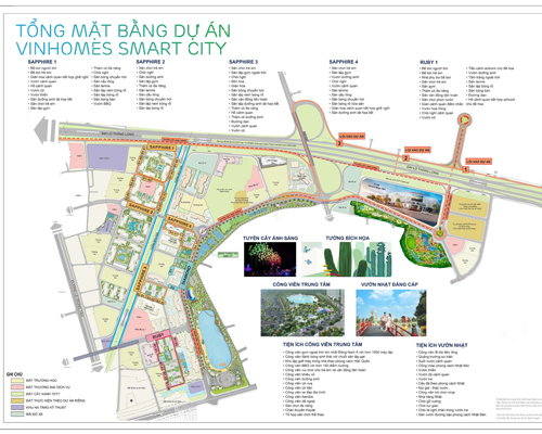 Mặt bằng vinhomes smart city