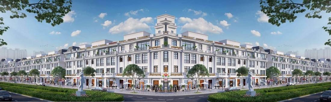Chi tiết phối cảnh thiết kế Shophouse thương mại với nghệ thuật kiến trúc Ý