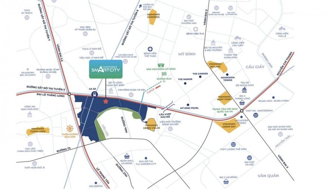 Địa thế nhất cận thị đẳng cấp của KĐT thông minh Vinhomes Smart City