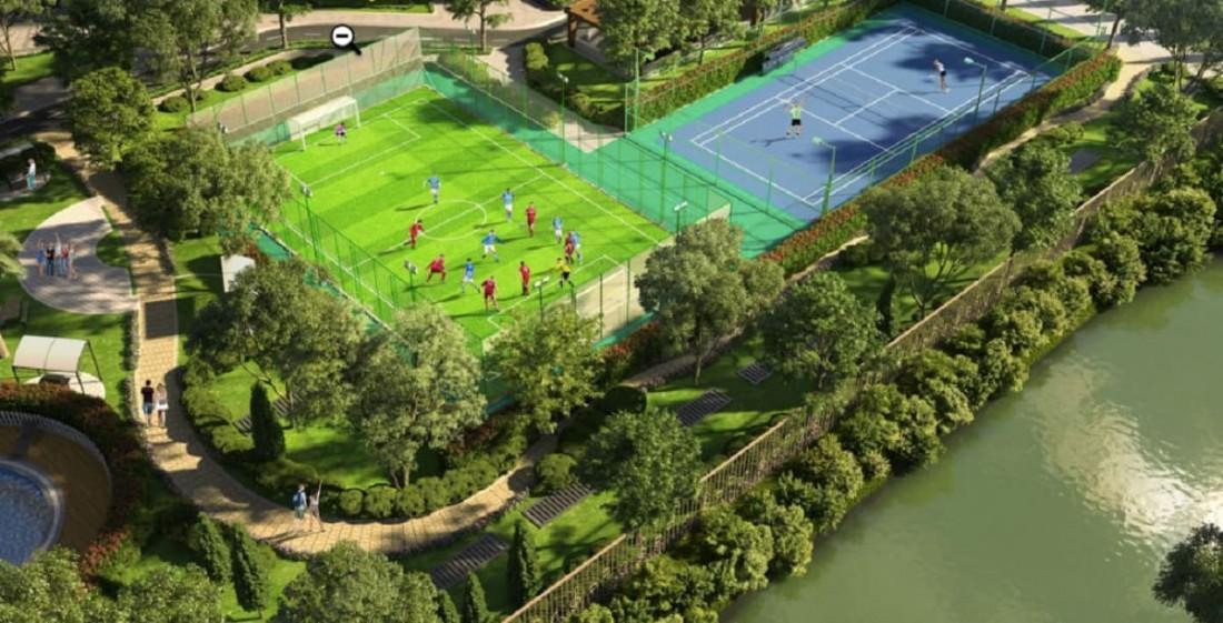 Luyện tập thể thao mỗi ngày tại công viên thể thao xanh với máy móc hiện đại