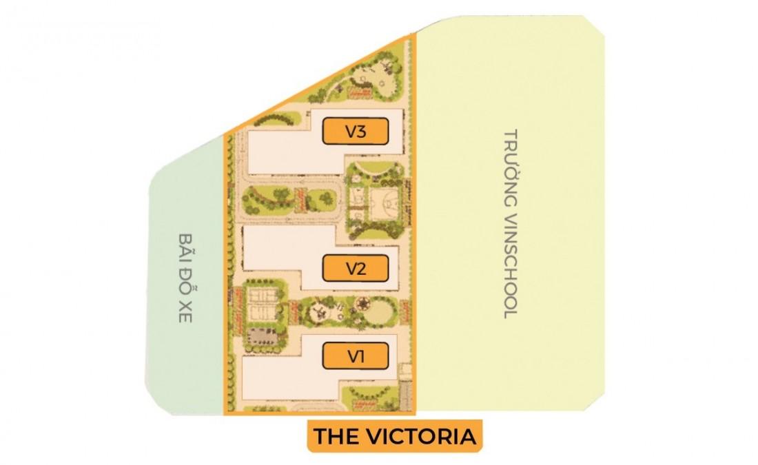 Mặt bằng phân khu The Victoria