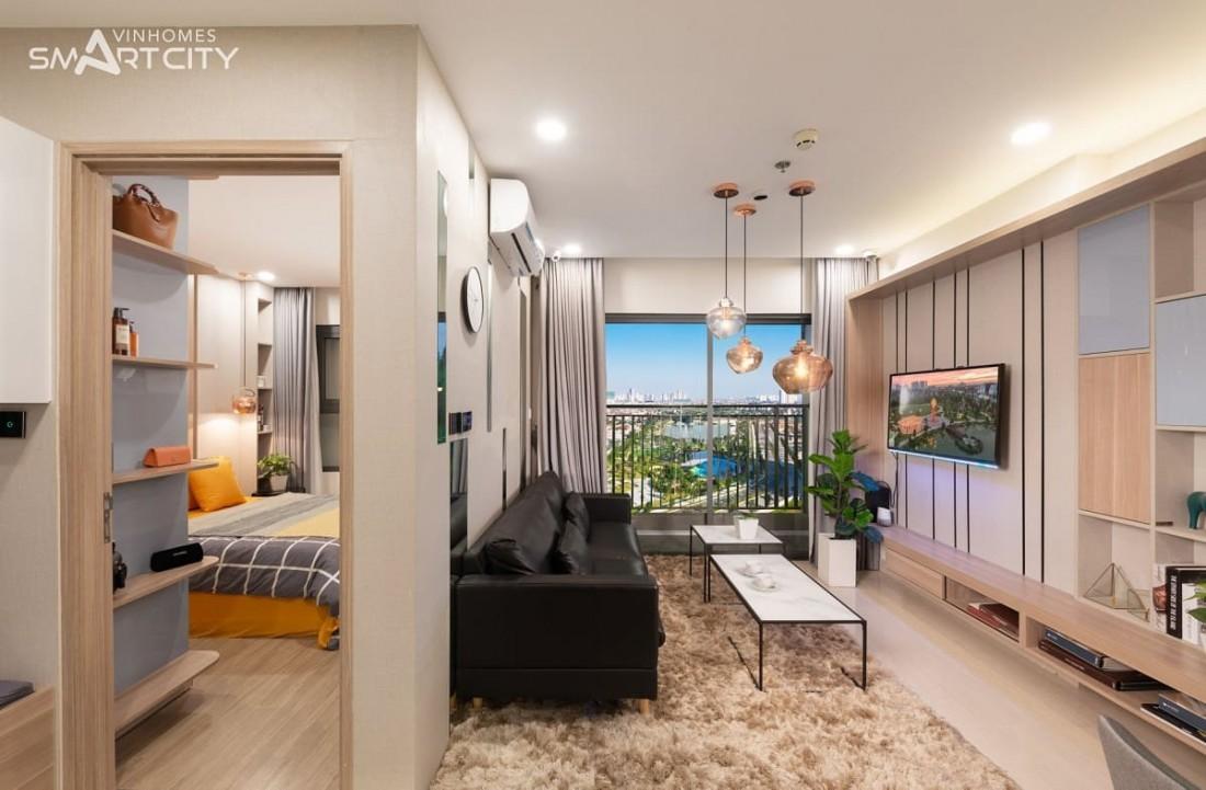Thiết kế căn hộ 1 phòng ngủ mang dáng dấp của sự hiện đại