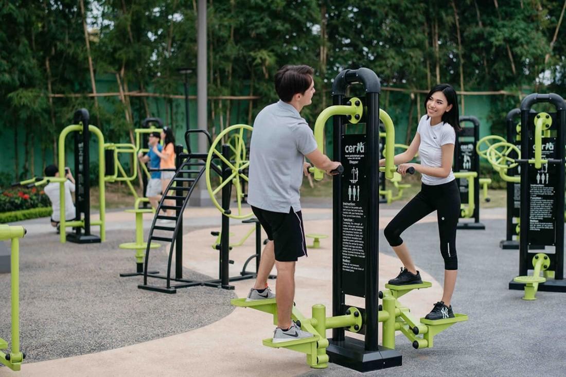 Trải nghiệm thế giới gym hiện đại với hơn 1000 máy tập tại công viên gym