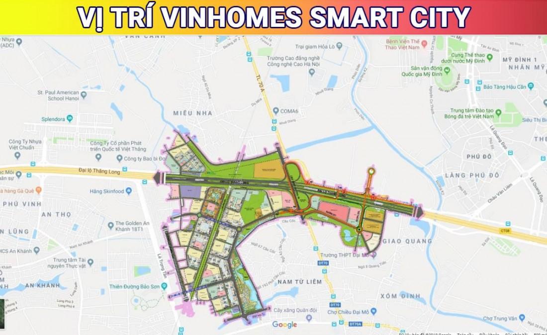 """Vị trí """"kim cương""""của KĐT Vinhomes Smart City tại phía Tây Hà Nội"""